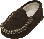 Moccasin Sueded Leather Shoe-Brown Sueded