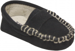 Moccasin Sueded Leather Shoe-Dark Navy Sueded