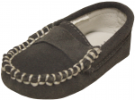 Moccasin Sueded Leather Shoe-Gray Sueded
