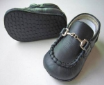 Moccasin Cow Leather w/ Chain-Dark Navy