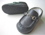 Moccasin Cow Leather w/ Chain-Pewter
