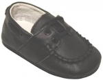 Mocassin Cow Leather w/ Lace-Black
