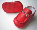 Moccasin Cow Leather w/ Chain-Red