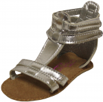 Girls T Strap Casual Sandals-Silver