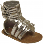 Girls 3/straps Casual Sandals-Silver