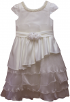 GIRLS CASUAL DRESSES (124017) IVORY