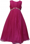 GIRLS CASUAL DRESSES (1241009) FUSHIA