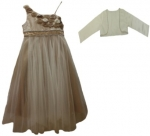 GIRLS CASUAL DRESSES (1241324916) BEIGE/GOLD