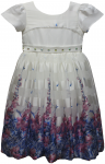 GIRLS CASUAL DRESSES (1241505083-1) WHT/BLUE