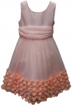 GIRLS CASUAL DRESSES (1241507001) CORAL