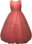 GIRLS FLOWER DRESSES (1242403) CORAL