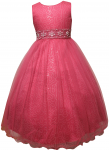 GIRLS FLOWER DRESSES (1242407) FUSHIA