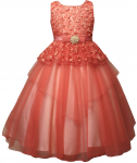 GIRLS FLOWER DRESSES (1242414) CORAL