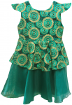 GIRLS CASUAL DRESSES (124PT09) GREEN