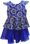 GIRLS CASUAL DRESSES (124PT09) R.BLUE