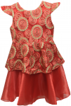 GIRLS CASUAL DRESSES (124PT09) RED