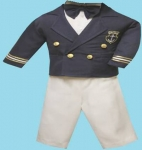 Boys Long Sleeve Captain Suit  2072045-(Navy/ White)