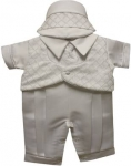 Boys Christening Short Suit 2072113-White