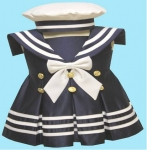 Girls Sailor Bow Dress-2092042-1Navy/white