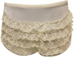 Accesories Nylon Panty w/ Lace 2102001-Ivory