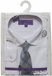 BOYS DRESSY SHIRT & TIE (LONG SLEEVE) 2121206-S