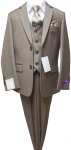 BOYS 5PC. SUIT (BEIGE) 2121207