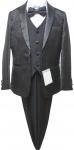 BOYS 5PC. SUIT (BLACK) 2121210