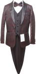 BOYS 5PC. SUIT (BURGANDY) 2121210