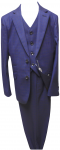 BOYS 3PC. TWO BOTTONS POLY/VISCOUS SUIT (ROYAL BLUE)