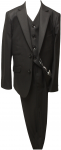 BOYS 3PC. TWO BOTTONS POLY/VISCOUS SUIT (BLK)