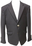 BOYS POLY/ VISCOUS BLAZER W/ METAL BOTTOMS (DARK NAVY)
