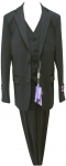 BOYS 3PC. SUITS STRECH FABRIC (BLACK)