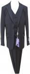 BOYS 3PC. SUITS STRECH FABRIC (DARK NAVY)
