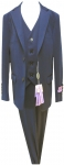 BOYS 3PC. SUITS STRECH FABRIC (MEDIUM BLUE)