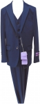 BOYS 3PC. SUITS STRECH FABRIC (NEW BLUE)