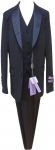 BOYS 3PC. SUITS STRECH FABRIC W/ SATIN SHALL (DARK NAVY)