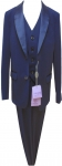 BOYS 3PC. SUITS STRECH FABRIC W/ SATIN SHALL (MEDIUM BLUE)