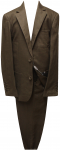 BOYS 2PC. SUIT (BROWN LINEN)