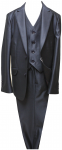 BOYS 3PC. TWO BOTTONS POLY/VISCOUS SUIT (NAVY)
