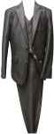 BOYS 3PC. TWO BOTTONS POLY/VISCOUS SUIT (GRAY)