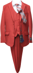 BOYS 5PC. TR SUIT (2141401) RED
