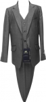 BOYS 3PC. TR SUITS (CHARCOAL)