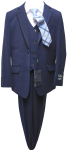 BOYS 5PC. TR SUIT (2141410) NAVY