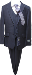 BOYS 5PC. TR SUIT (2141412) NAVY