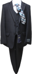 BOYS 5PC. TR SUIT (2141413) BLACK