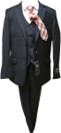 BOYS 5PC. TR SUIT (2141414) BLACK