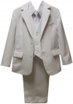 BOYS SUITS W/ LONG TIE (WHITE)