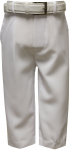 BOYS DRESSY PANTS W/ BELT (WHITE)