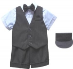 BOYS 5PC. SHORT VEST SET (SKY BLUE)