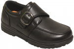 BOYS SCHOOL SHOES W/ VELCROW STRAP (2212144) BLACK